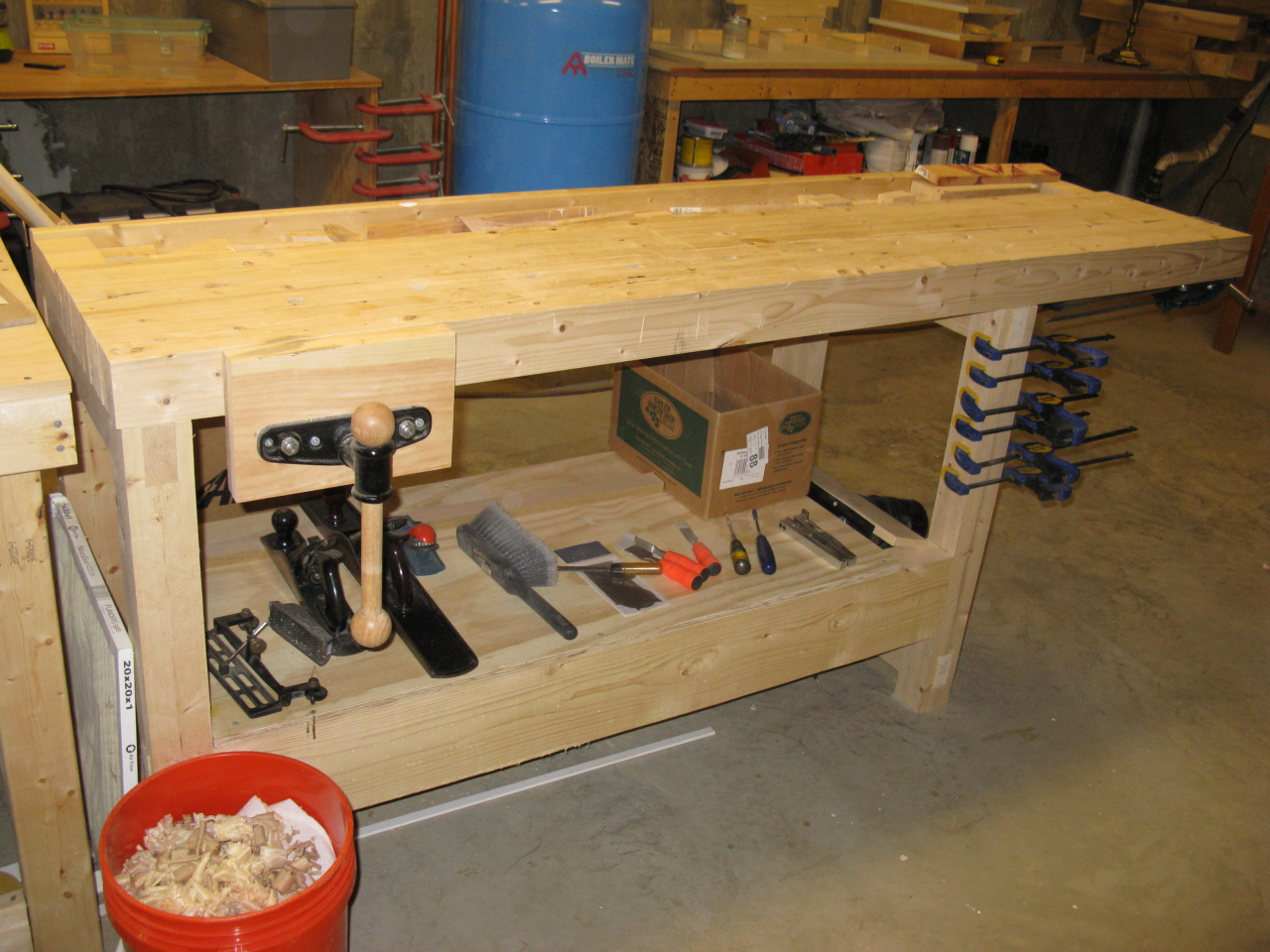 My Ugly Cheap Effective Workbench Grain Grain