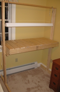 Fully assembled bench